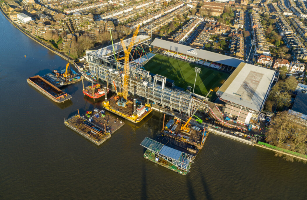 Severfield working on Fulham FC Riverside Stand